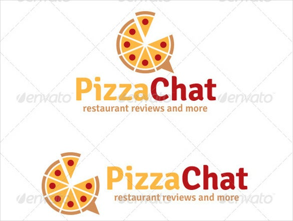 pizza chat logo template