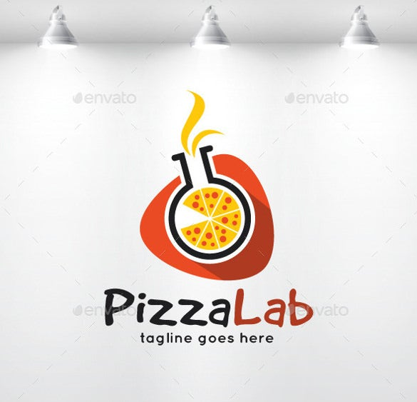pizza lab logo template1