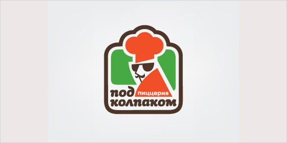 logo for pizzeria in the mafia style
