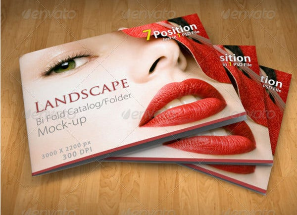 landscape a4 a5 bi fold brochure