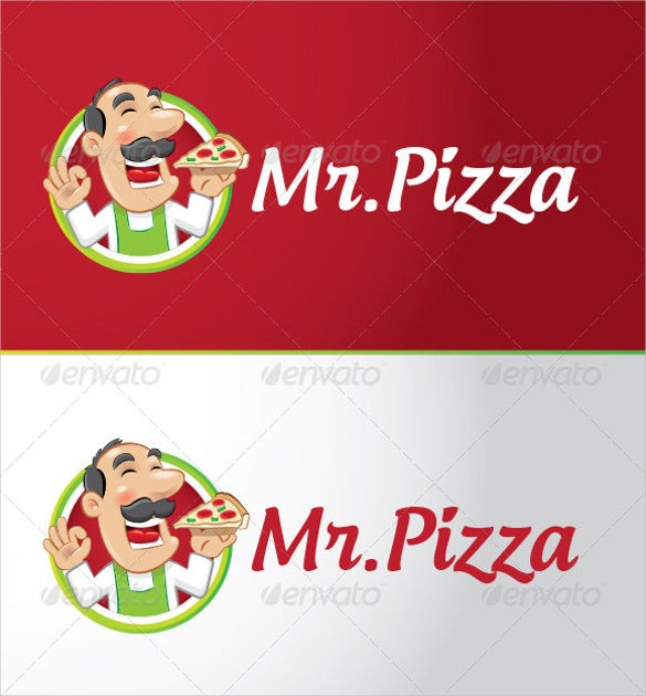 mr pizza logo template download