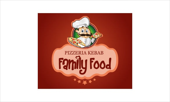 food pizza logo template download