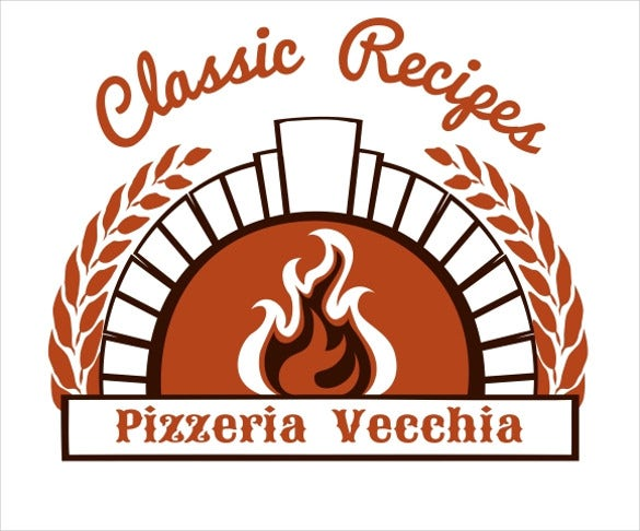 firewood oven and pizza logo download