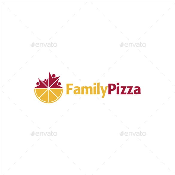 family pizza logo template download