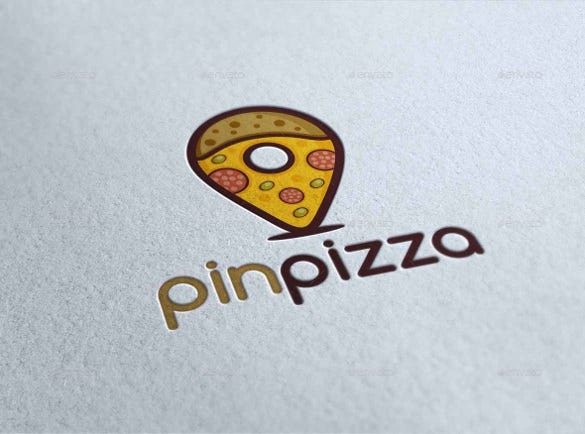 pin pizza logo template download