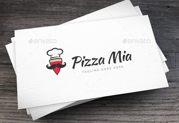 pizza mia logo template ai illustrator template