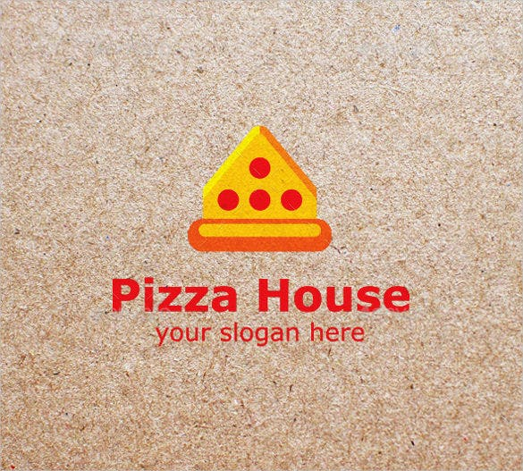 pizza house logo design template