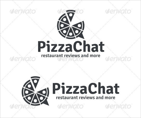 pizza chat logo template ai formats