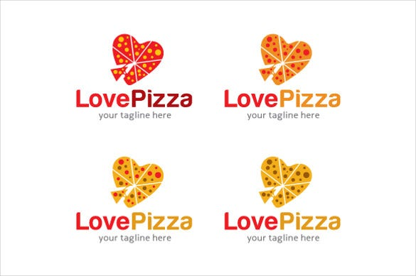 love pizza logo template