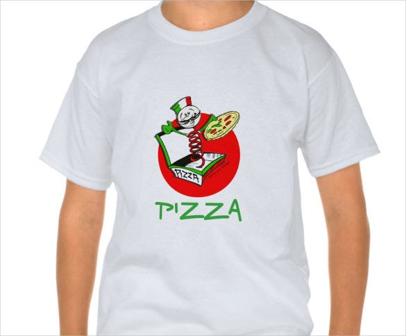 pizzaiolo logo on t shirt