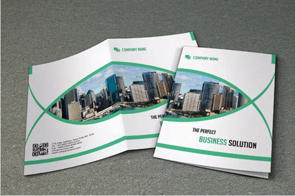 bi fold brochure for business template
