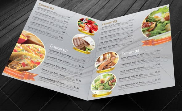 bi fold restaurant food menu template1