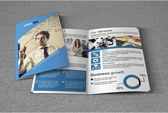 Sample Bi Fold Brochure Brochure Design Sample Technology Company