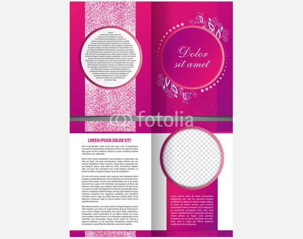 violet vector bi fold beauty design
