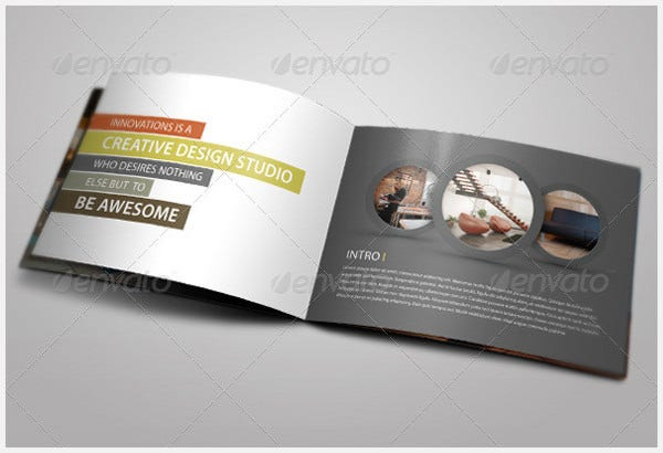 bi fold brochure design template