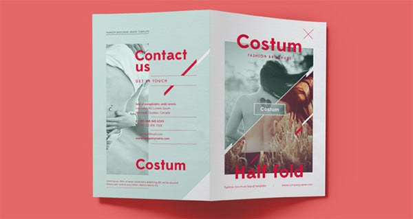costum bi fold brochure template1