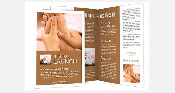 feet massage brochure template1