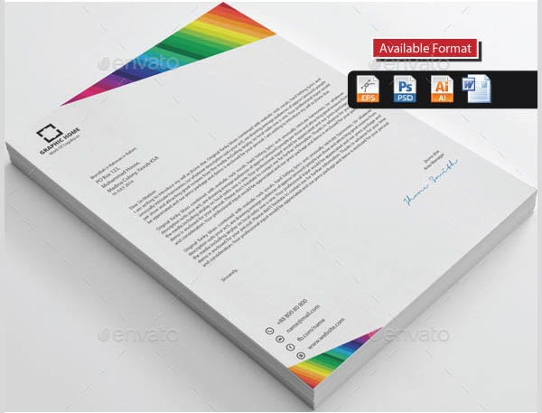 rainbow colour letterhead1