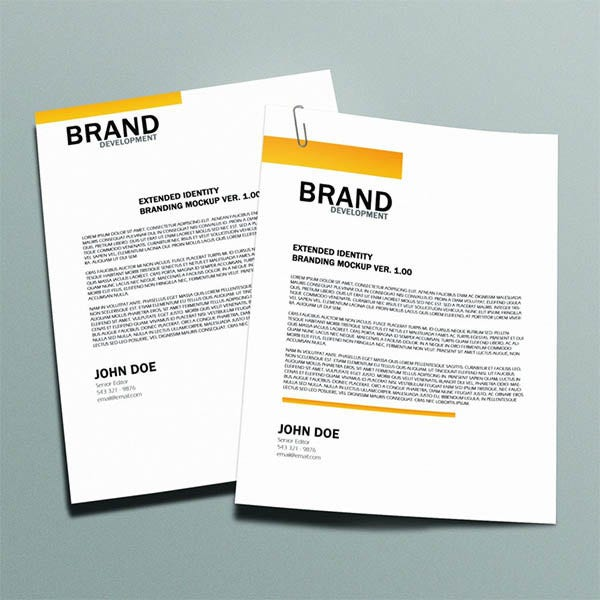 free letterhead mock up1