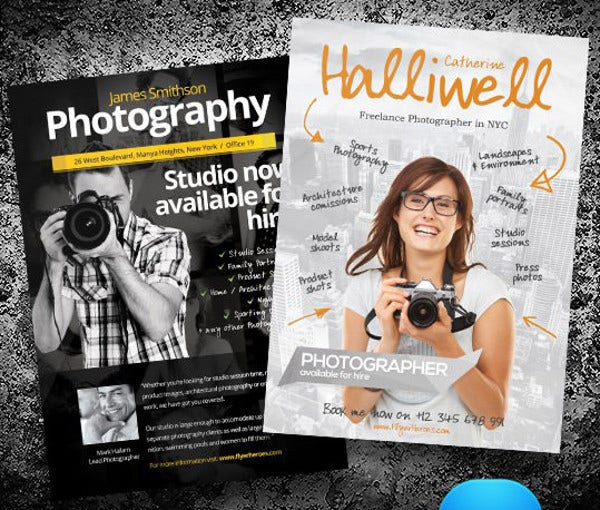 Photographer Flyer Insssrenterprisesco - Photography brochure template free