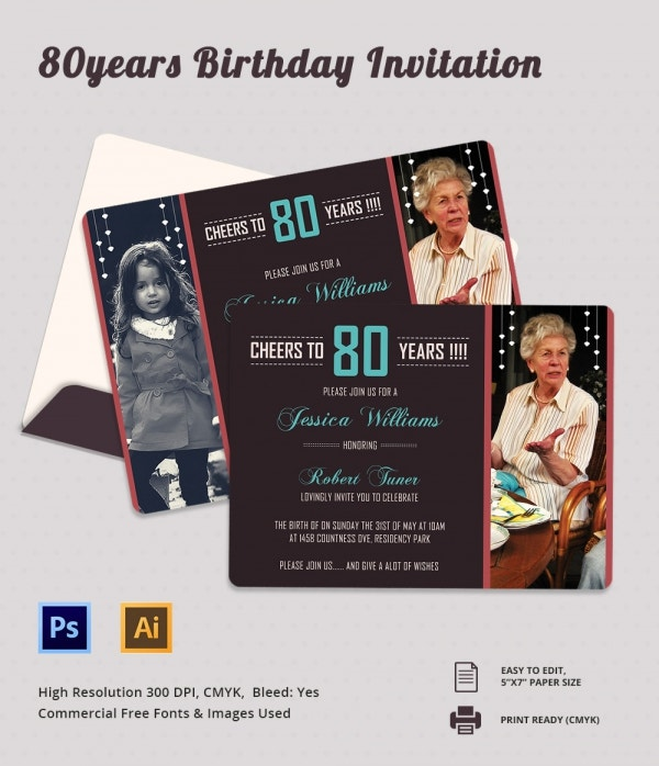 Free 50 Birthday Invitation Templates for great invitation template