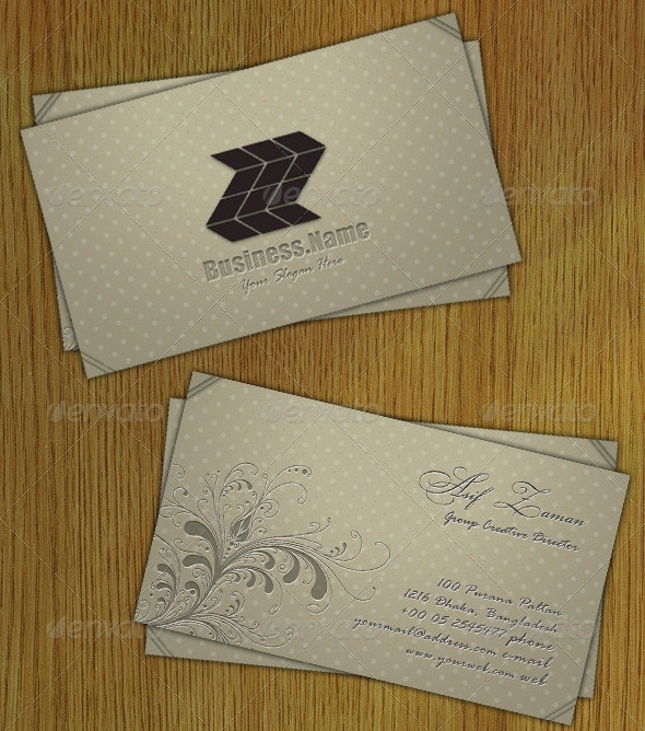 cool letterpress business card template1