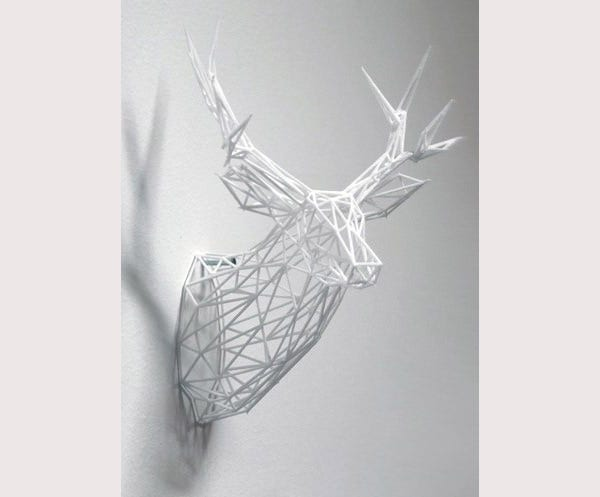 3-D Printed Stag Sculpture