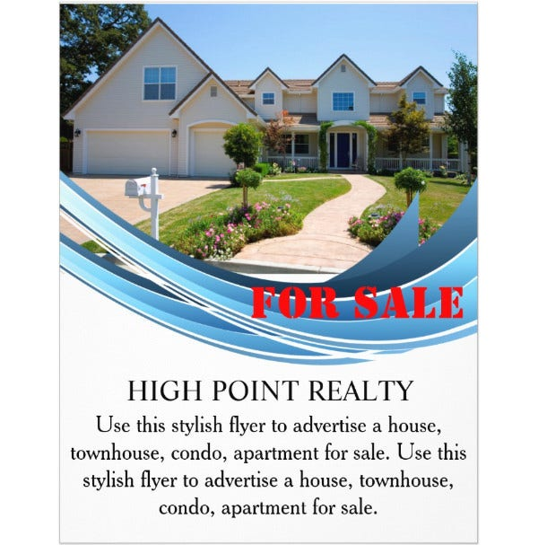 modern real estate realtor for sale flyer2