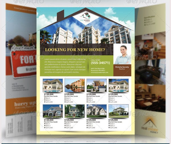 elegant real estate flyer set1