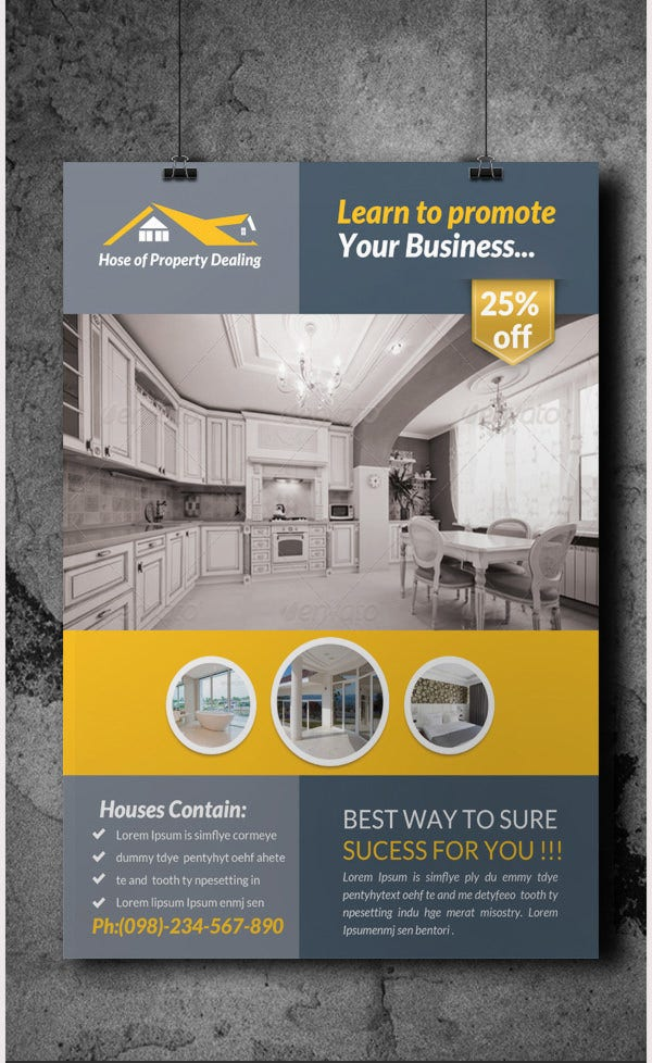 real estate flyer template5