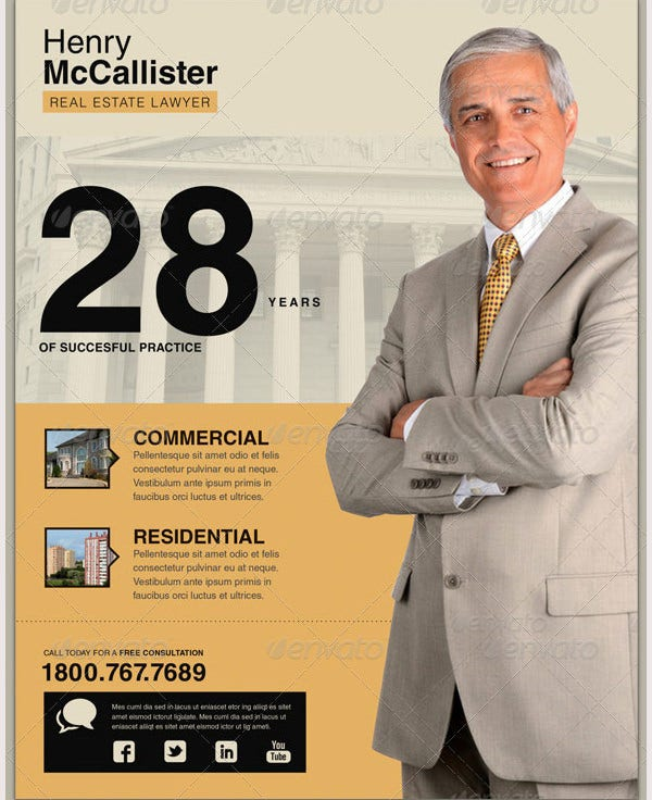 real estate lawyer flyer template1