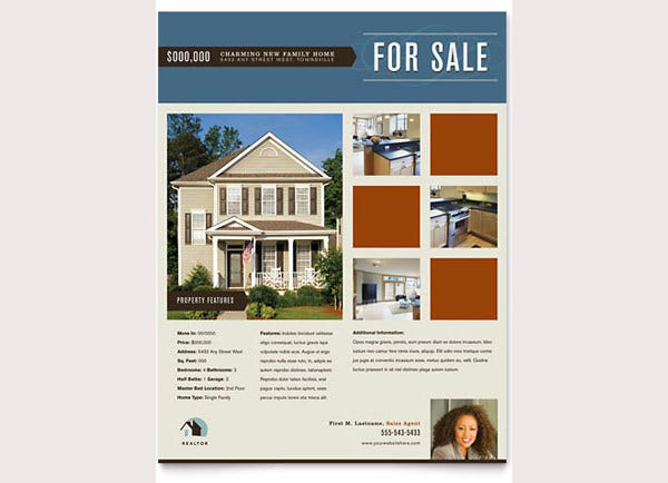 real estate agent realtor flyer template1