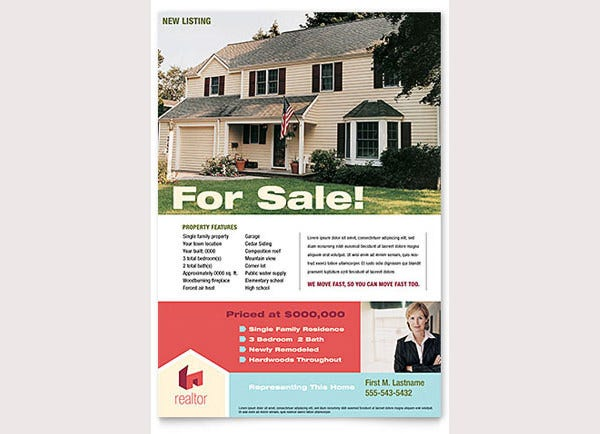 home real estate flyer template1