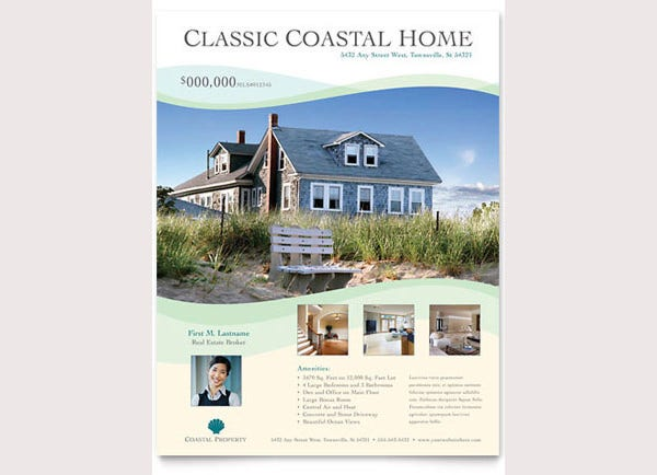 coastal real estate flyer template1