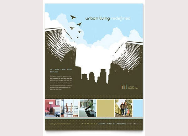 urban real estate flyer template2