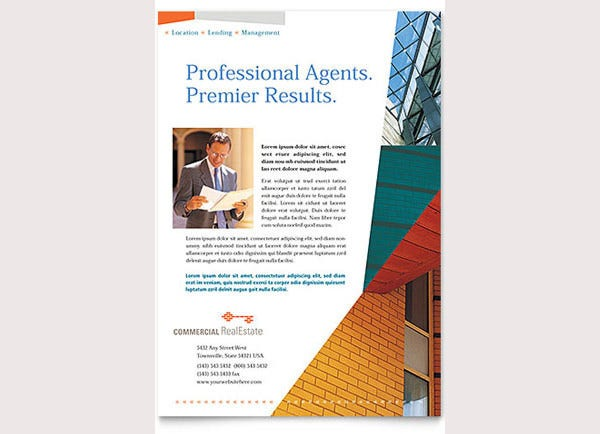 PSD Real Estate Marketing Flyer Templates Free Premium - Commercial real estate brochure template