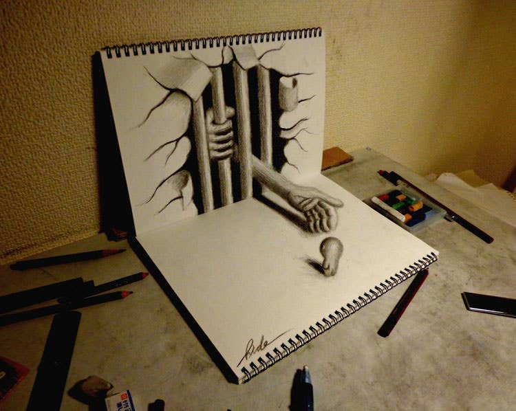 3D Drawing - Beckoning to the evil
