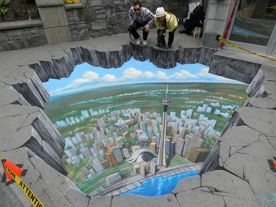 3D Street Art 3D Chalk Art