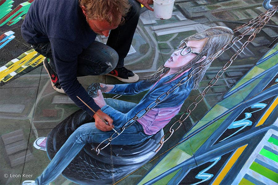 3d street art painting20