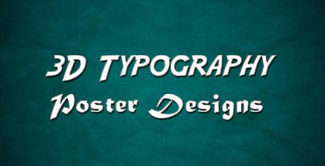 3dtypographyposterdesigns