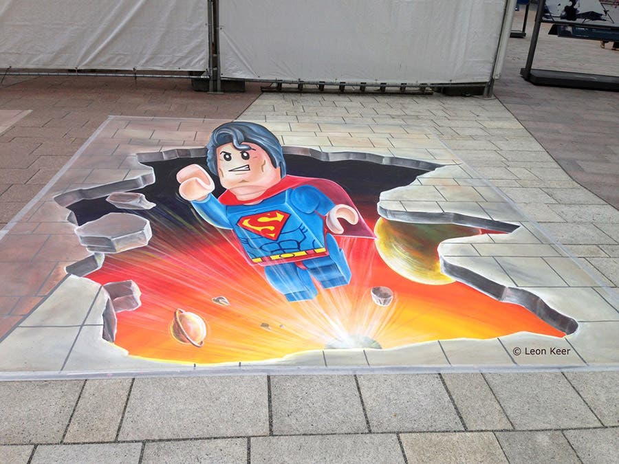 3d street art lego superman 1000px copy