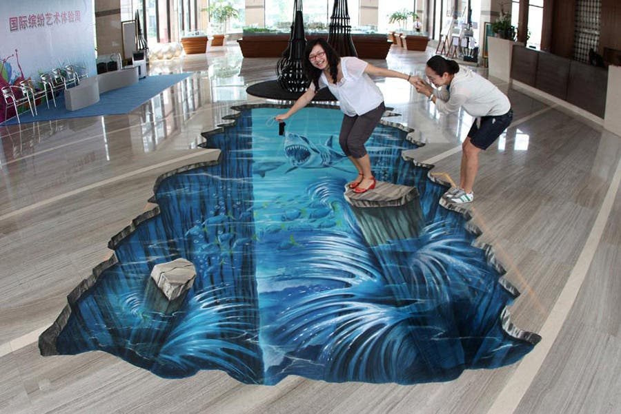 100 amazing street art paintings with 3d effects free for 3d street painting mural art