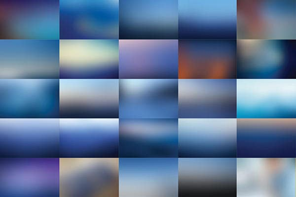 50 Blue Blurred Backgrounds Vol. 2