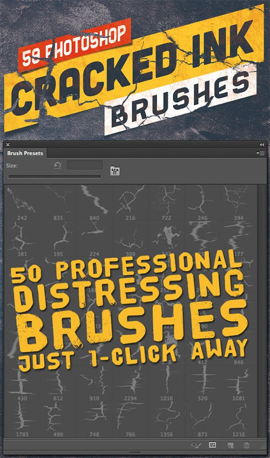 50 photoshop crack grunge