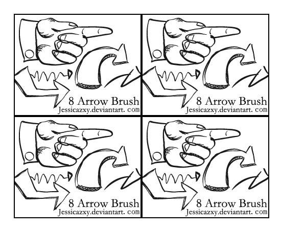 8 arrow brush