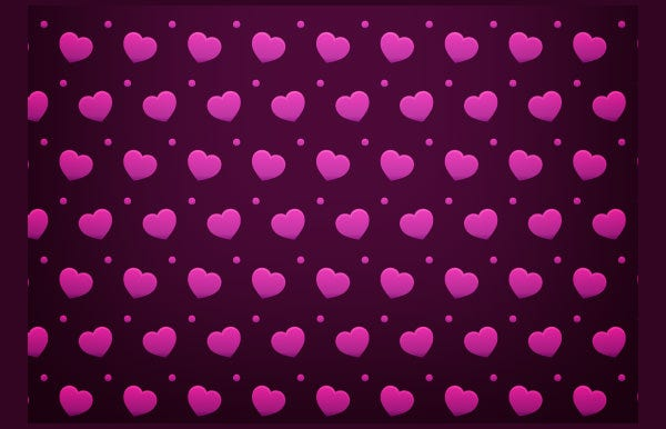 a cute free heart valentine photoshop pattern