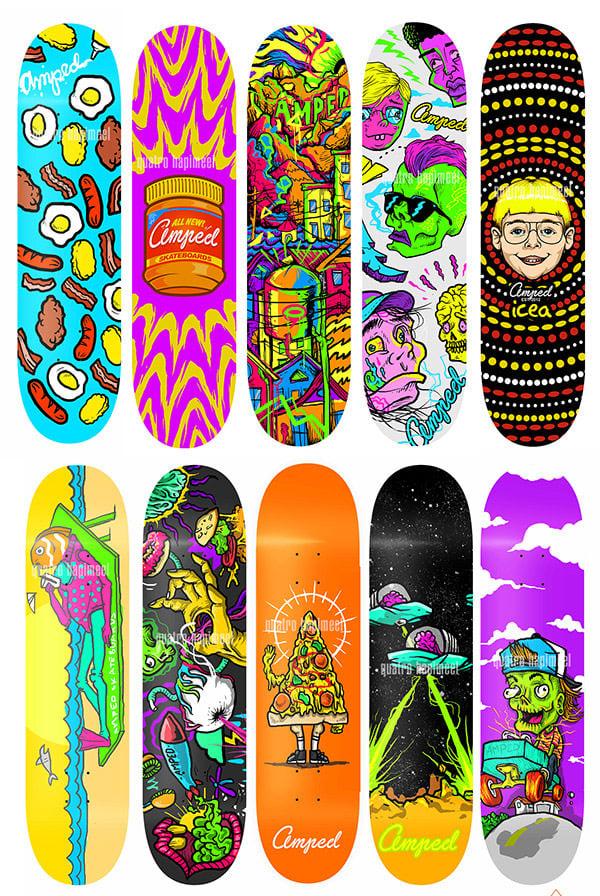 amped skateboards
