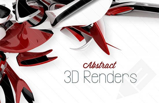 abstract 3d renders