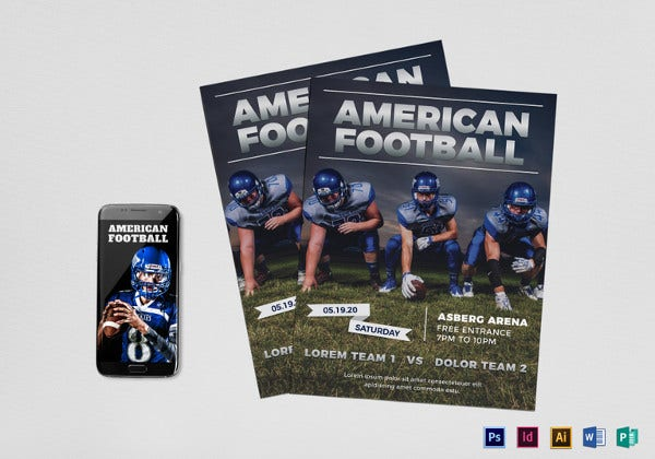 american-football-flyer-template
