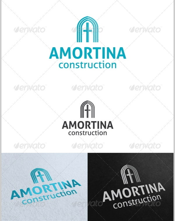 amortina construction logo template